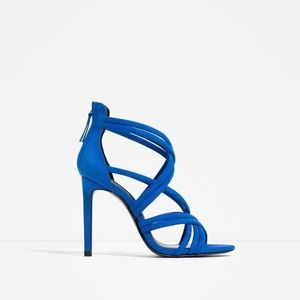 Zara Strappy Heel Sandals Royal Blue